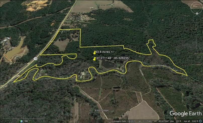 Aerial 4 approx. 93.8 acres houston county, al