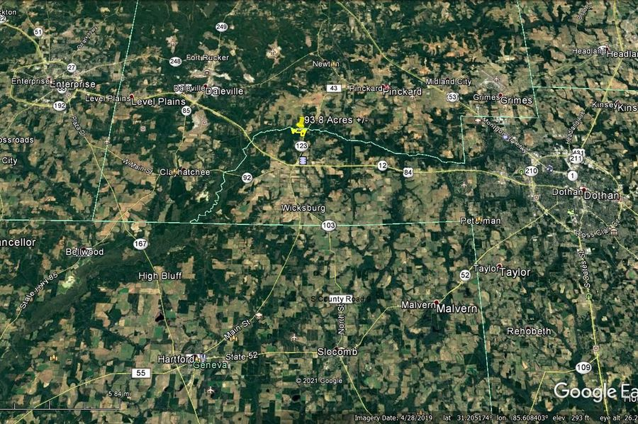 Aerial 6 approx. 93.8 acres houston county, al