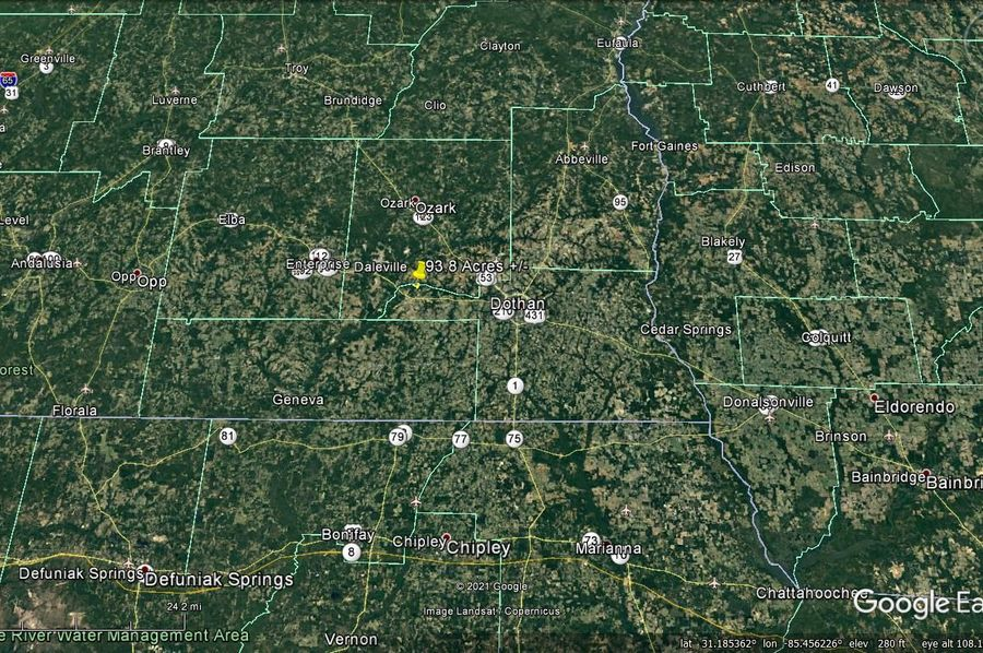 Aerial 7 approx. 93.8 acres houston county, al