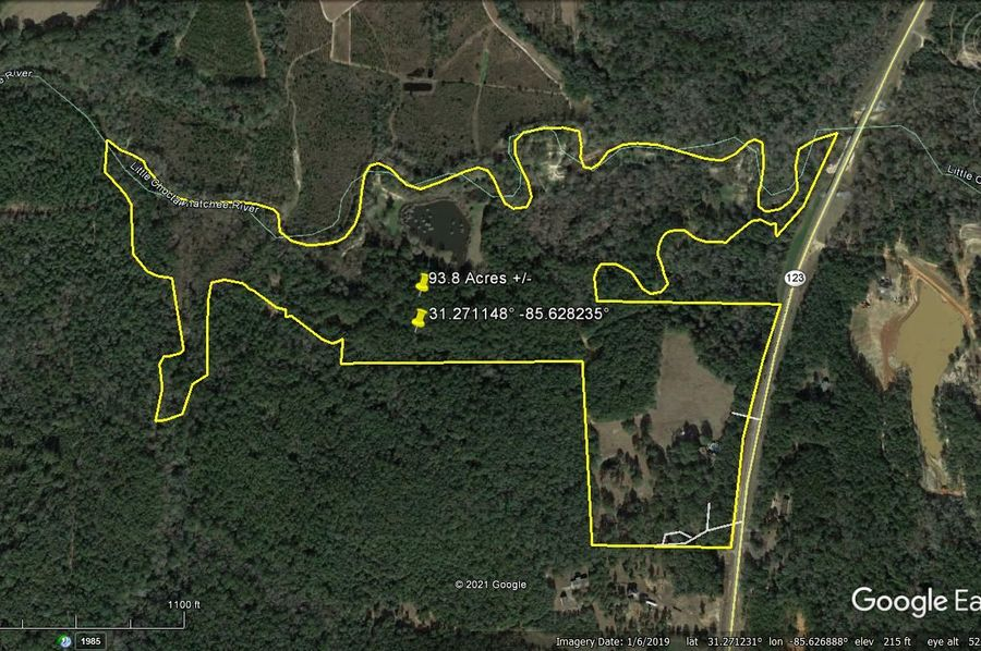 Aerial 1 approx. 93.8 acres houston county, al