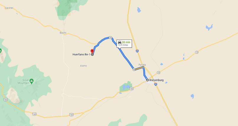Huerfano 166 vargas directions to walsenburg