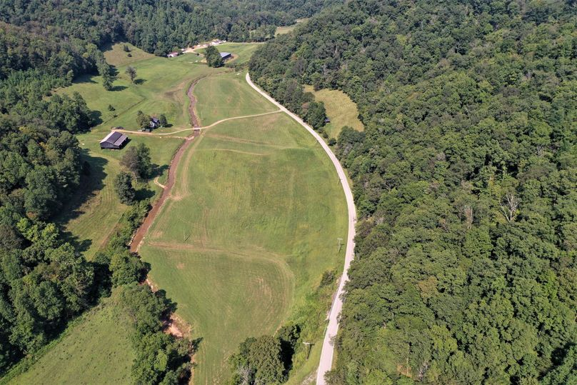 018 mid elevation drone shot from the east boundary looking west