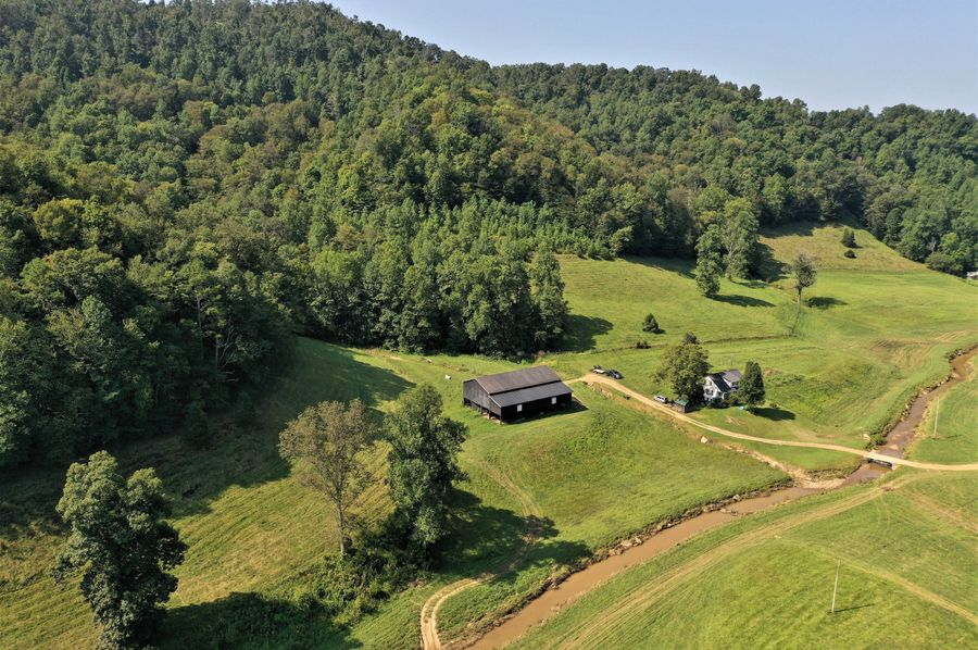 023 low elevation drone shot from the middle of the property looking south